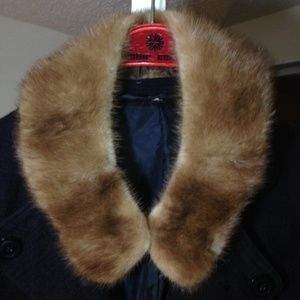 "Mink Stole Red Fox 20""Long Collar Genuine x 3""wide"